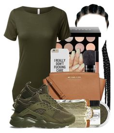 """""""stem"""" by finesseprincess ❤ liked on Polyvore featuring Bobbi Brown Cosmetics, MICHAEL Michael Kors, Bare Escentuals, Fig+Yarrow, Michael Kors, SEN and NIKE"""