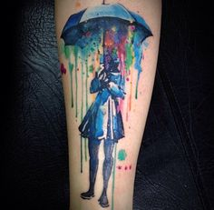 Watercolor Tattoo - Victoroctaviano http://tattoo-ideas.us/watercolor-tattoos/