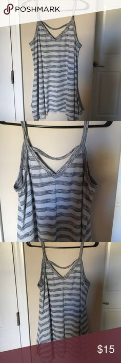 ** FINAL PRICE ** Brand new tank top This tank top is free flowing. It has a cute strap across the back. Brand new. Never worn. It is a greenish gray color. Size large Mint Julep Tops Tank Tops