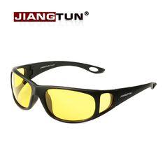 JIANGTUN HD Night Vision Glasses Goggles Polarized Sunglasses 2017 New Brand Designer Yellow Night Driving Gelbe Nachtfahr Brill