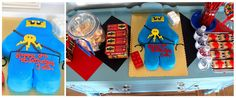 Ninjago party---could I just use my gingerbread man cookie cutters to make the lego man? must check this out.