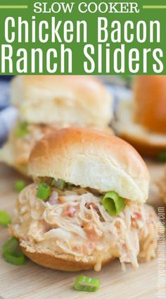 Let the slow cooker do the work tonight! These Slow Cooker Chicken Bacon Ranch Sliders make the perfect easy dinner that my kids loved. I cooked my chicken with ranch then mixed in some cheese and bacon once shredded. Chicken Bacon Ranch Sandwich, Chicken Sandwich Recipes, Slow Cooker Recipes, Crockpot Recipes, Easy Recipes, Slow Cooker Bacon, Paleo Recipes, Frugal Meals, Easy Meals