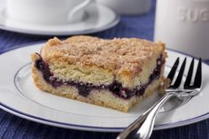 Neighborhood Blueberry Coffee Cake | MrFood.com