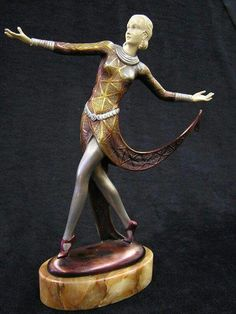 Art Deco Tambourine Dancer Sculpture | Art Deco, Erte\' & Art Nuevou ...
