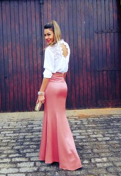 maxi skirt + shirt