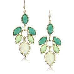 "kendra scott ""timeless"" 14k gold plated jeanine orchid earrings."