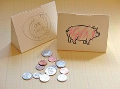 Paper piggy banks, we're making these in children's church for the parable of the talent!