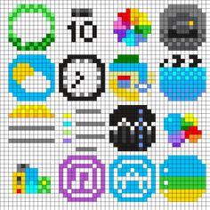 iPhone Apps Perler Bead Pattern