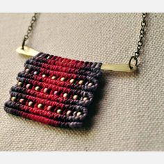 Hammered Brass Necklace Bright by Amira Mednick