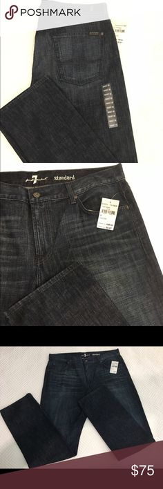 💥Men's Seven for all Mankind Jeans NWT 👖 Men's Seven for all Mankind Jeans New with tags, never worn. Size 38.👖Purchased at Nordstrom Rack for $99 but normally are $198. Classic dark wash, perfect with a button down or t shirt. Seven for all Mankind Pants