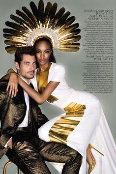 David Gandy & Jourdan Dunn by Nick Knight - Vogue UK September 2012
