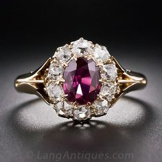 Antique Ruby and Diamond Ring - 30-1-5042 - Lang Antiques
