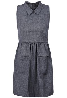 Dark Grey Sleeveless Pockets Dress. i kind of hate this and love it at the same time.