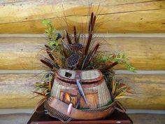 Fishing creel floral arrangements - Google Search