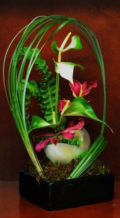 modern floral design - Framed Floral Arrangment by Green Dahlia