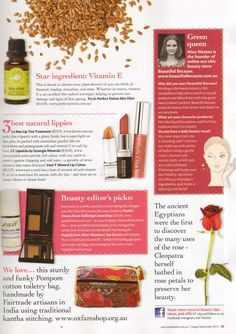 Nature & Health – August/September, 2015 // featured #LaMav Tinted Lip Treatment