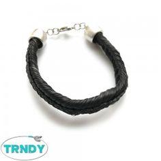 armband paardenhaar zwart