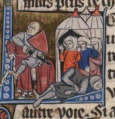 Beinecke Arthurian Romances Folio Dating Medieval World, Medieval Art, Medieval Manuscript, Illuminated Manuscript, Friedrich Ii, Middle Ages, Knight, Illustration, Creative