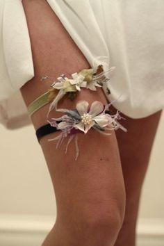 Pretty [[not  kitschy]] Bridal Garters