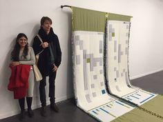 Natasha Ginwala, upcoming star curator, researcher. Curating Contourbiennale of moving images in Mechlin, Belgium. On her left Adam Szymczyk.