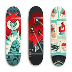 Chaotic Moon Skate Decks on Behance