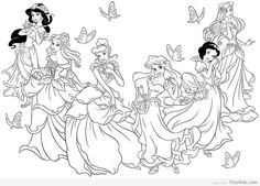 Timykids 30 Princess Coloring Pages For Girls