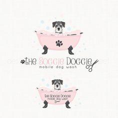 dog grooming logo mobile dog wash logo pet by stylemesweetdesign