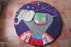 Tapis d'éveil rond elephant