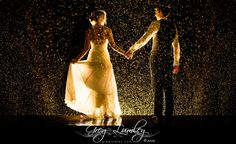 Night photoshoot in rain by wedding photographer Greg Lumley