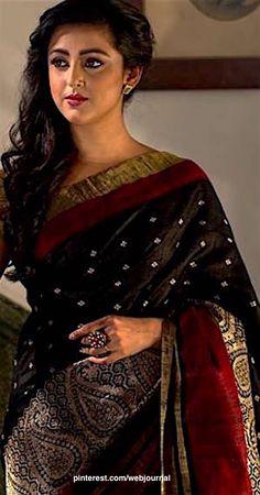 Lucknow Chikankari hand embroidered saree from Shatika