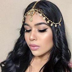 Lily Gold Rhinestone Matha Patti Wedding Bridal Goddess Bohemian Boho Grecian Head Chain Hair Jewelry Piece Bollywood Wedding Gold Crystal Rhinestone