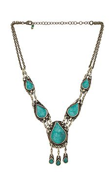 Natalie B Jewelry collier all choked up en Pacific Green | REVOLVE