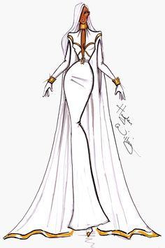 #Hayden Williams Fashion Illustrations: #Marvel Couture by Hayden Williams: Storm. V