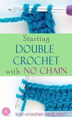 Crochet For Beginners Learn how to start double crochets without a chain. The foundation double crochet tutorial shows you how to get started on a new project. You also learn how to add stitches at the end of a row without needing to create a chain. Crochet 101, Beginner Crochet Tutorial, Crochet Stitches For Beginners, Crochet Chain, Crochet Instructions, Crochet Stitches Patterns, Crochet Videos, Crochet Basics, Crochet Crafts
