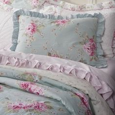 simply shabby chic with hydrangeas....I really like this one but I'm still trying to decide which one would suit my room better....