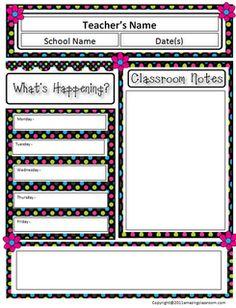 Classroom Newsletter Template  Free