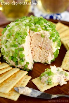 This Crab Dip Cheeseball is so easy to throw together ahead of time, and is absolutely delicious! It's going to be the first thing gone on the appetizer table!