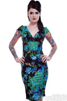 Peacock Tea Dress by Vanity Project Limb | Dresses | Peacock