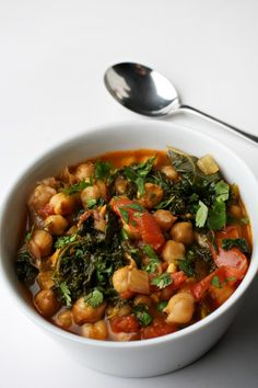 Kale and Chickpea Stew. Full of cancer fighting nutrients and the leftovers are good cold too.