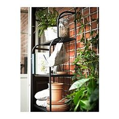 IKEA - LÄCKÖ, Shelving unit, outdoor, The materials in this outdoor furniture require no maintenance.Easy to keep clean – just wipe with a damp cloth.