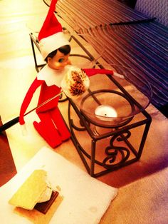 Elf on the Shelf Making Smores  Making S'mores