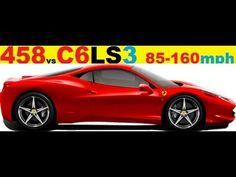 Ferrari 458 Italia vs. Corvette C6 LS3 #Corvette #Stingray #auction #Chevrolet #Convertible #cars #classiccars #Chevy