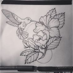 Image result for neo traditional hummingbird