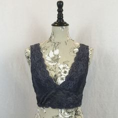 """NWT Signature 8 Lace Boudoir Bralette NWT This sultry bralette is both sophisticated and sexy. Let it peek out from a tank our wear with under a sheer top. Lined cups, stretch lace fabric. Fabric content 90% nylon, 19% spandex. Measures 28"""" (without stretching elastic) under bust, 14"""" from top of strap to under bust hemline. Signature 8 Intimates & Sleepwear Bras"""