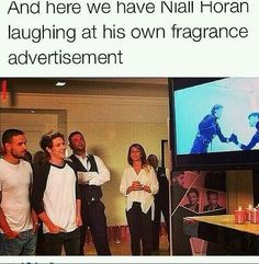 Niall laughing at himself