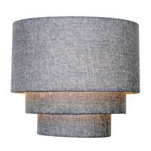 Fashioned with three stylish tiers and textured in a faux linen fabric, this timeless ceiling light shade will suit any home. White Lamp Shade, Lamp Shades, Light Shades, Off White Walls, Living Room Accessories, Modern Retro, Light Decorations, Linen Fabric, Grey And White