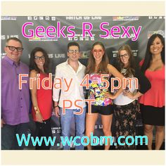 "Geeks R Sexy ""AntiBully"" TV Show every Friday 4-5pm on www.wcobm.com"