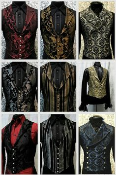 Top Gothic Fashion Tips To Keep You In Style. As trends change, and you age, be willing to alter your style so that you can always look your best. Consistently using good gothic fashion sense can help Steampunk Mode, Steampunk Wedding, Victorian Steampunk, Steampunk Clothing, Victorian Fashion, Gothic Clothing, Gothic Fashion Men, Steampunk Vest, Renaissance Clothing