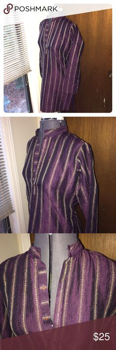 90s style Purple tunic No stains, one minor hole. Super cute wth jeans! Lightweight fabric Vintage Tops Tunics