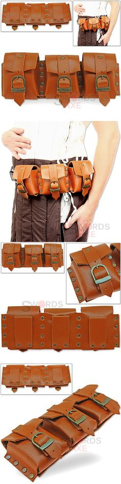 Bags and Pouches 175641: Steampunk Bandolier Multi-Pocket Belt Or Shoulder Pouch Genuine Leather Handmade -> BUY IT NOW ONLY: $49.99 on eBay!